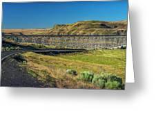 Joso High Bridge Over The Snake River Wa 1x2 Ratio Dsc043632415 Greeting Card