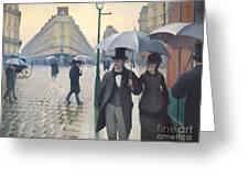 Jour De Pluie A Paris Greeting Card