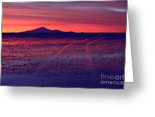 Journey In A Purple Dreamland Greeting Card