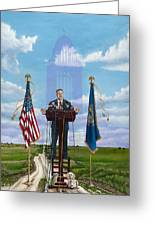 Journey Of A Governor Dave Heineman Greeting Card
