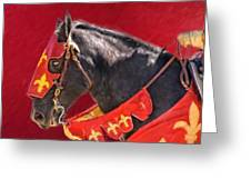 Jouster Red Greeting Card