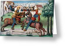 Jousting Knights, 1499 Greeting Card