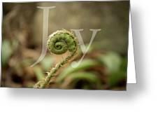 Joy Fiddlehead Greeting Card