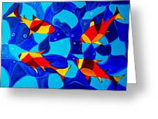 Joy Fish Abstract Greeting Card