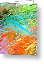 Joy In Abstract Greeting Card