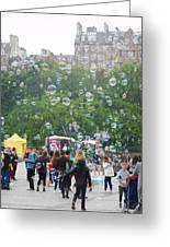 Joy Of Bubbles Greeting Card