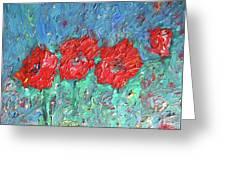 Joy Of Poppies Greeting Card