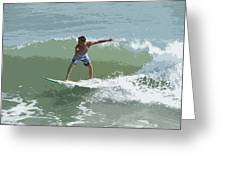 Joy Of Surfing One Greeting Card