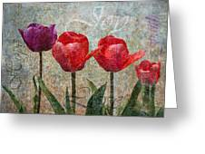 Joy Withtulips Greeting Card