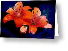 Joyful Lilies Greeting Card