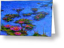 Joyful State - Modern Impressionistic Art - Palette Knife Landscape Painting Greeting Card