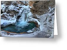 Johnston Canyon Winter Delight Greeting Card