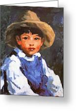 Juan Also Known As Jose No 2 Mexican Boy 1916 Greeting Card