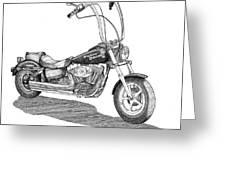 Juan's Harley Greeting Card