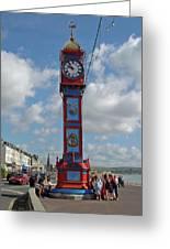 Jubilee Clock - Weymouth Greeting Card