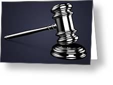 Judge Gavel. Greeting Card