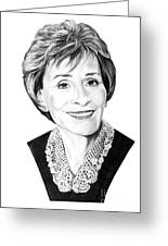 Judge Judith Sheindlin Greeting Card