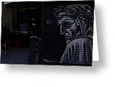 Judgemental Graffiti Greeting Card