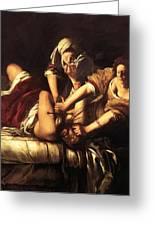 Judith Beheading Holofernes 1620 Greeting Card