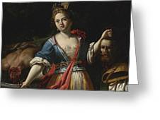 Judith With The Head Of Holofernes 2 Greeting Card