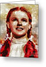Judy Garland, Vintage Actress By Mb Greeting Card
