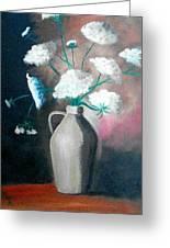 Jug Of Flowers Greeting Card