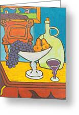 Jug Of Wine Greeting Card
