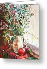 Jug With  Red Apple Greeting Card