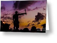 Juggler At Sunset Greeting Card
