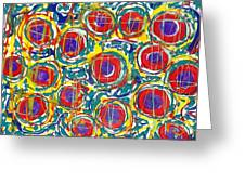 Jugglery Of Colors Greeting Card