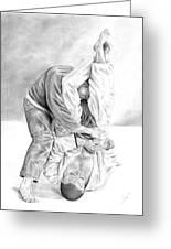 Jiu Jitsu Fundamentals The Armbar Greeting Card