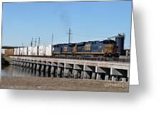 Juice Train Greeting Card