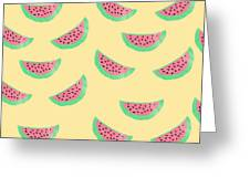 Juicy Watermelon Greeting Card