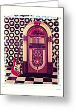 Juke Box Polaroid Transfer Greeting Card