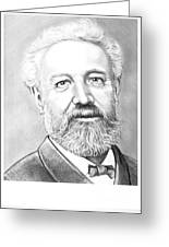 Jules Verne Greeting Card by Murphy Elliott