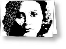 Julia De Burgos 1 Greeting Card