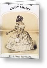 Julia Pastrana, Bearded Lady Greeting Card