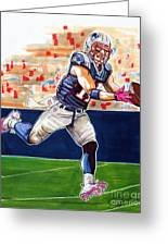 Julian Edelman Greeting Card