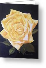 Julie's Yellow Rose Greeting Card