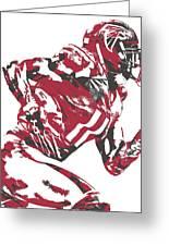 Julio Jones Atlanta Falcons Pixel Art 11 Greeting Card