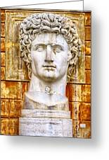 Julius Caesar At Vatican Museums 2 Greeting Card by Stefano Senise