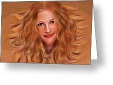 Julorobani - Julia Roberts Portrait Greeting Card