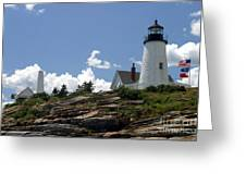 July 2005 At Pemaquid Point Light Greeting Card
