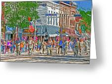 July 4th Color Guard Greeting Card