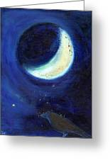 July Moon Greeting Card