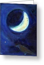 July Moon Greeting Card