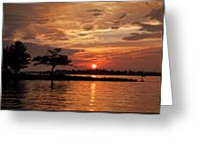 July Summer Sunset At Detroit Point Greeting Card