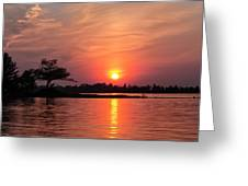 July Sunset At Detroit Point Greeting Card