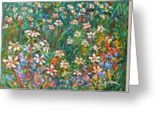 Jumbled Up Wildflowers Greeting Card