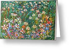 Jumbled Up Wildflowers Greeting Card